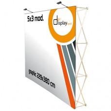 Pop Up  - Velcro - Muro Promocional 5x3 módulos