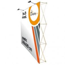 Pop Up  - Velcro - Muro Promocional 3x3 módulos