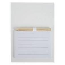 Caderno com Iman Fridge + lápis