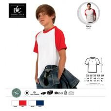 T-shirt B&C Baseball Kids