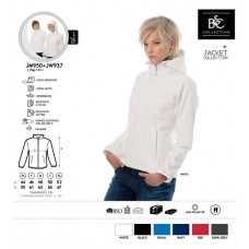 Blusão B&C Softshell C/Capuz Senhora